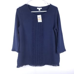 NWT Charter Club Navy Light Weight Sweater Size PS